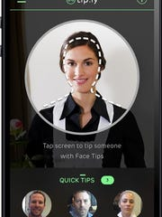 The app uses facial-recognition and location-based