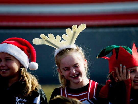 Youngsters enjoy the annual Halls Christmas Parade