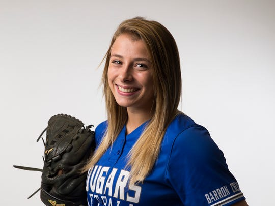 Barron Collier softball player Ashley Hayes.