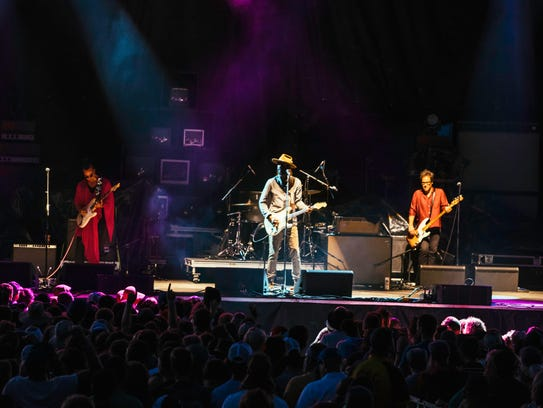 Gary Clark Jr. performing live at the 2017 Hinterland