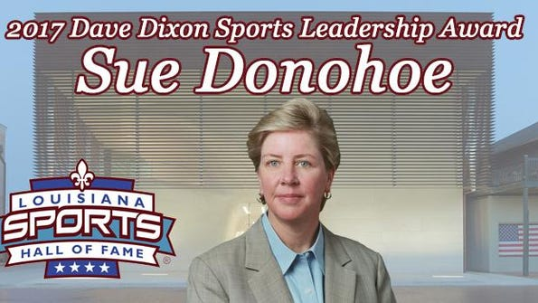Sue Donohoe is the 2017 Dave Dixon award winner.