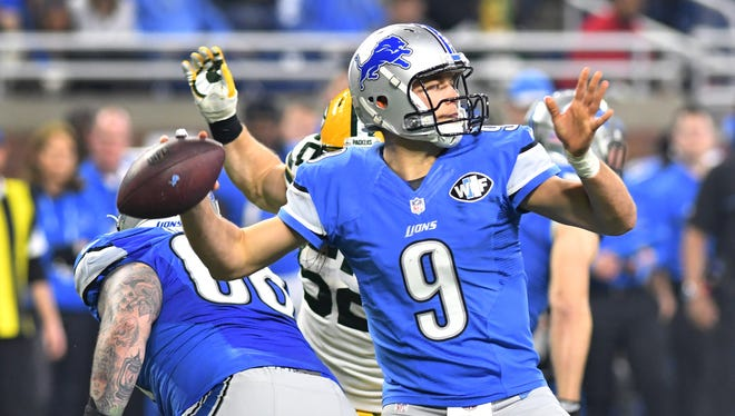 Lions quarterback Matthew Stafford has completed 66.6 percent of his passes and thrown 50 touchdowns in 27 games since he was benched in the second half of a 2015 loss against the Cardinals.