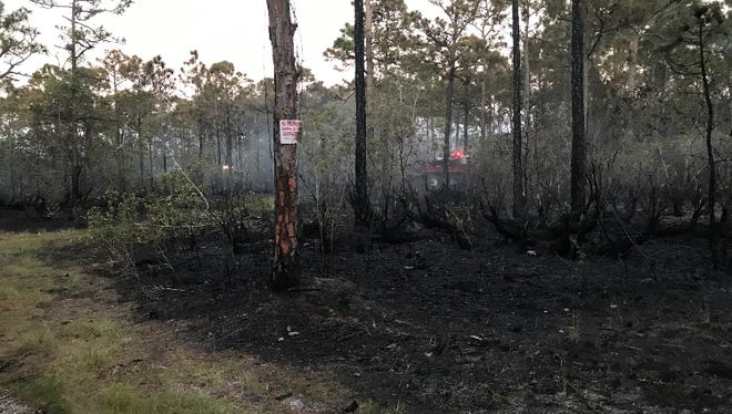 A three-acre fire off Southeast Cobia Way and Southeast Hydrangea Street in Martin County is fully contained. The cause currently is  unknown.