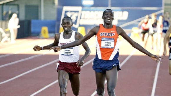 UTEP's Anthony Rotich, right, will lead the cross country