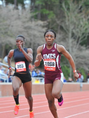 Gaylon Evans competes in a race for UMES.