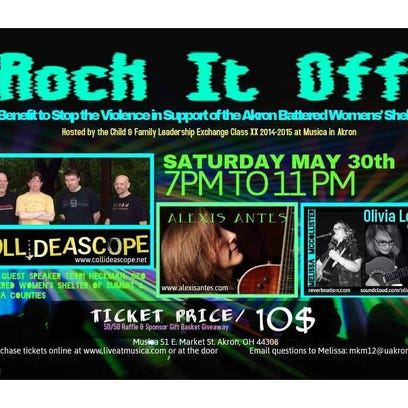 May 29, 2015: Benefit concert to support Akron Battered