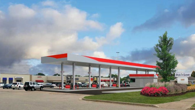 This artist's rendering shows a new fuel center that is being opened at a Pick 'n Save in Stoughton.