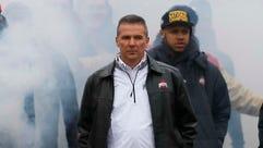 Ohio State Buckeyes head coach Urban Meyer takes the