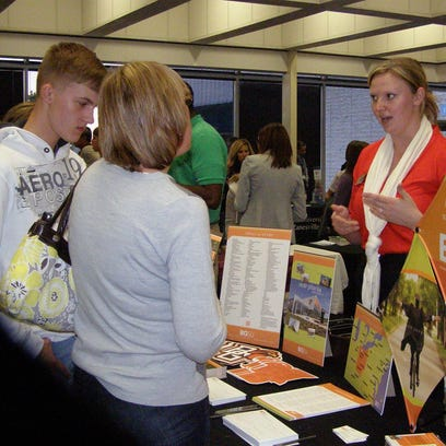Parents and students attend a Coshocton CARES college