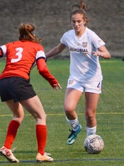 Catholic Memorial midfileder Lauren Brown was an all-state selection as a freshman last year.
