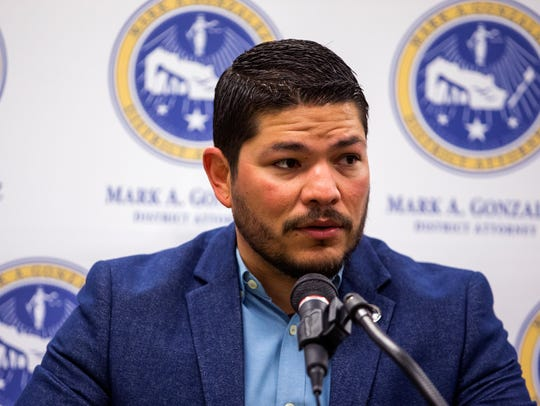 District Attorney Mark Gonzalez on April 16, 2018.