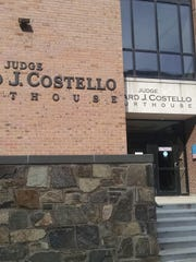 Entrance to the Judge Edward J. Costello Courthouse