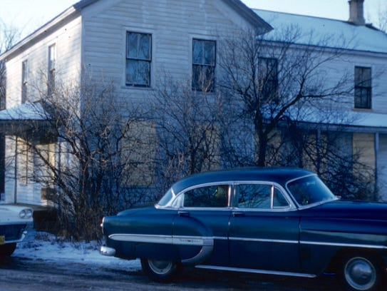 Archive photo labeled Ed Gein's home in Plainfield,
