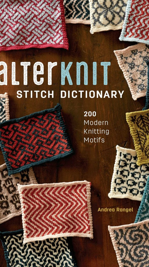 Andrea Rangel has a new book of stranded knitting graphs