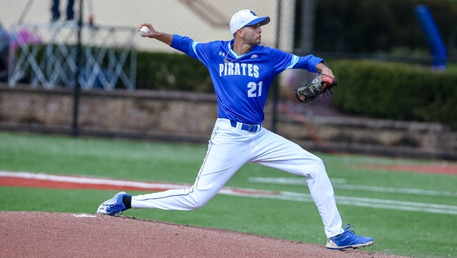 Billy Layne Jr. pitches for Seton Hall University during the 2018 campaign.