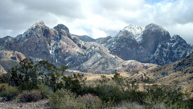 In this Dec. 28, 2006, image, the Organ Mountains near Las Cruces, N.M., are left with a light dusting of snow.