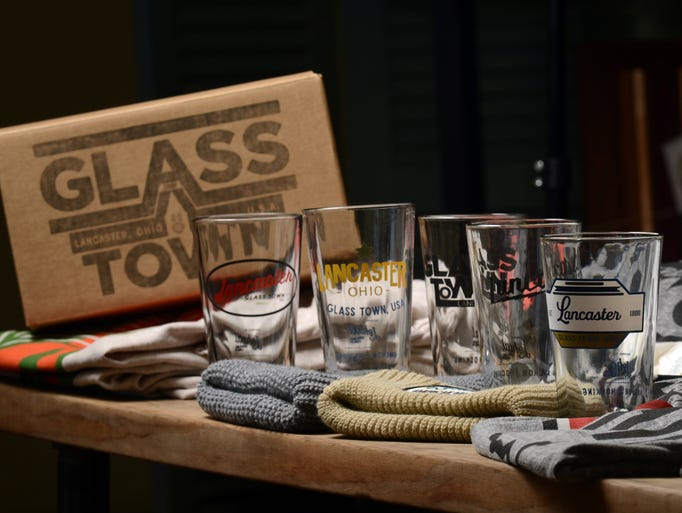 Five commemorative Lancaster glasses designed by Lohcal
