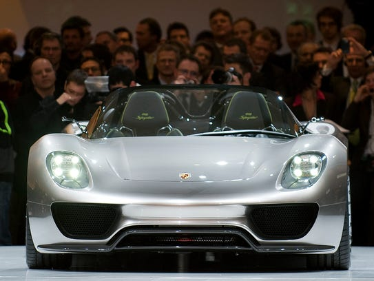 In 13th place comes Porsche -- and the 918 Spyder hybrid