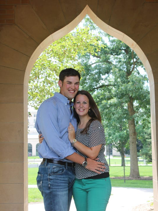 Liam and Amy engagement picture