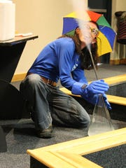Liquid nitrogen demonstrations are among the fun activities