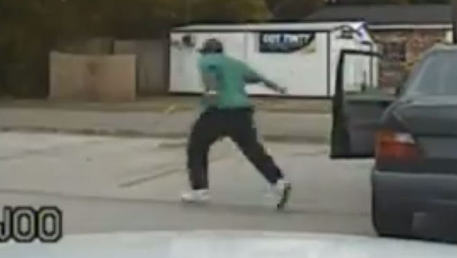 Walter Scott runs from a traffic stop in a dash camera video released in April by South Carolina authorities.