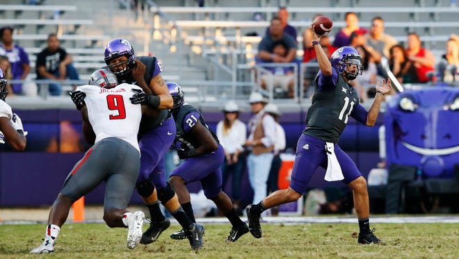 Zach Allen played sparingly at TCU but is expected to challenge to be Rutgers starting quarterback.