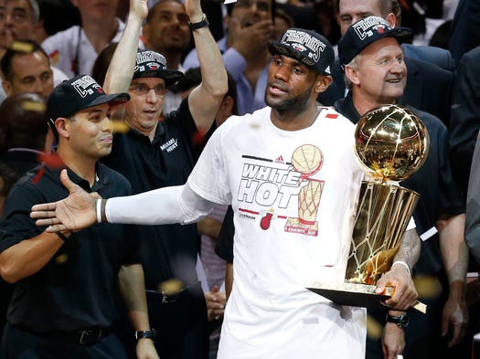 Will LeBron James and the Heat win a third consecutive NBA championship? USA TODAY Sports' Adi Joseph would bet on it. But he doesn't predict Miami will have the best record. Here are his NBA regular-season projections, from worst to best.