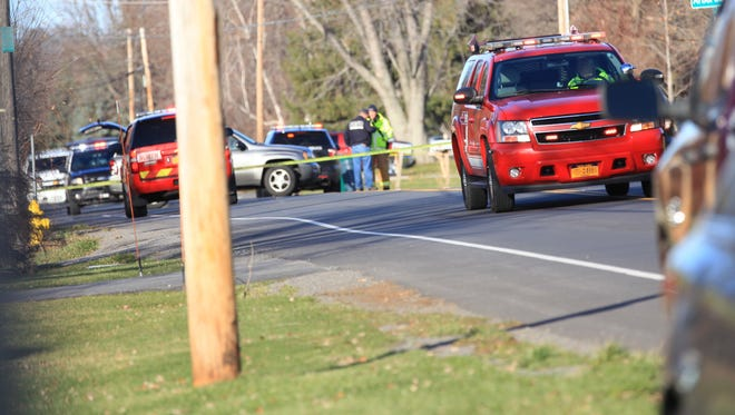 Emergency workers in Greece blocked off Flynn Road on Sunday after a teenager was fatally struck.