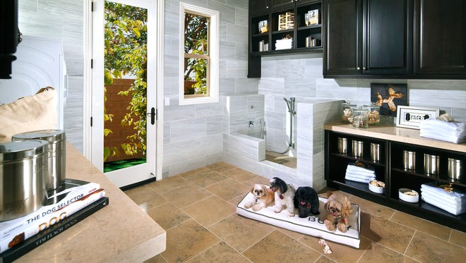 A Standard Pacific Home's interior view of a dog-friendly home on May 13, 2014. Standard Pacific Homes is building and selling 27 new home communities from Florida to California and billing them as the first to offer pet paradise as an option in every one.