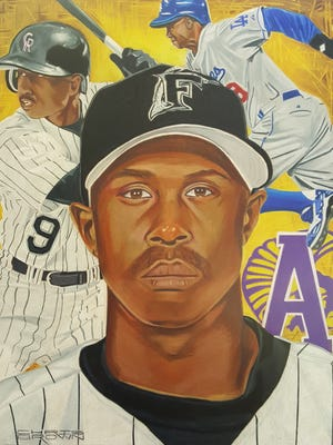 Juan Pierre's official portrait for the Louisiana Sports Hall of Fame.