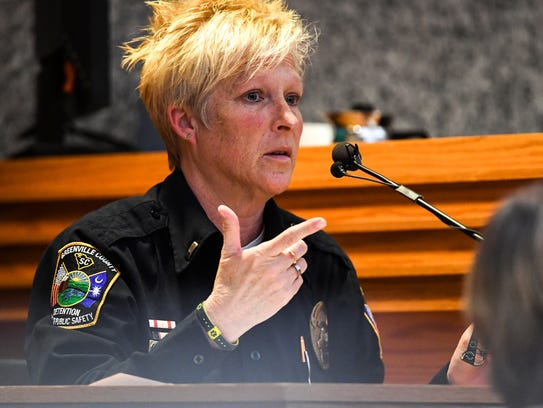 Witness Lt. Barbara Pressley of the Greenville County