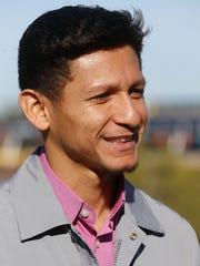 Venezuelan jockey Roimes Chirinos  is all smiles as