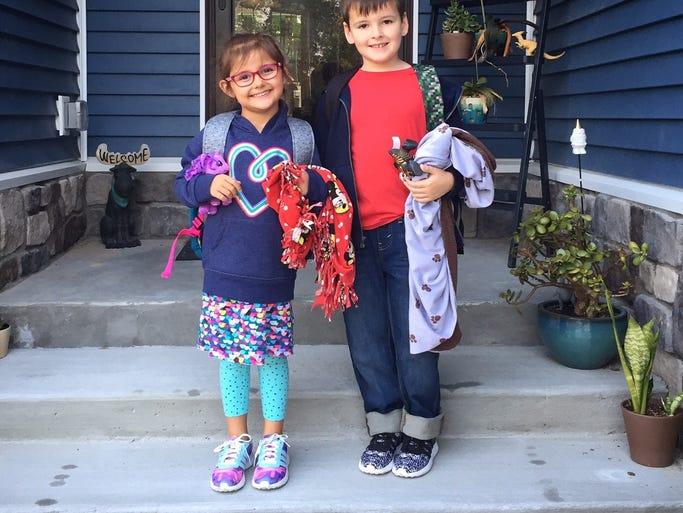 Millie and Joey Antrosiglio, kindergarten and first