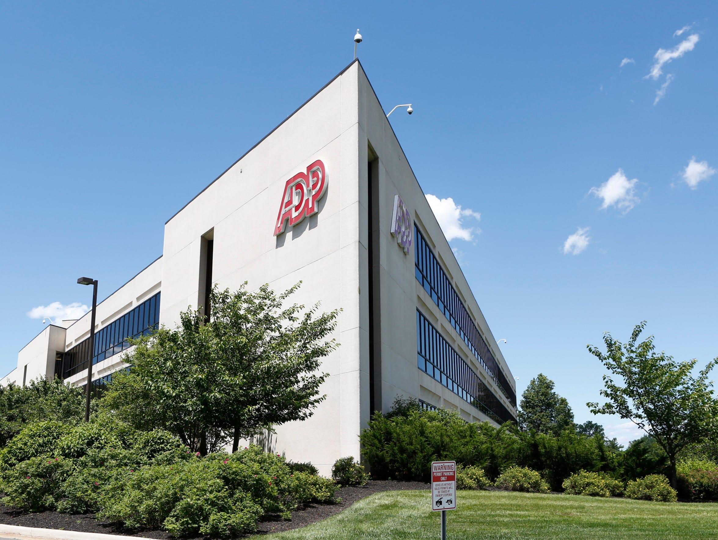 The ADP headquarters in Roseland, N. J. Tuesday, June