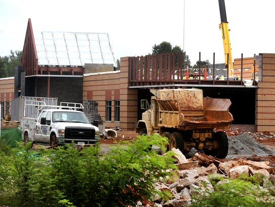 Construction continues at John Colemon Elemntary, on