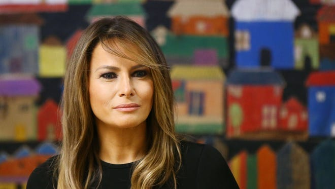 First lady Melania Trump visits Southwest Key, an immigrant holding facility, on June 28, 2018, in Phoenix.