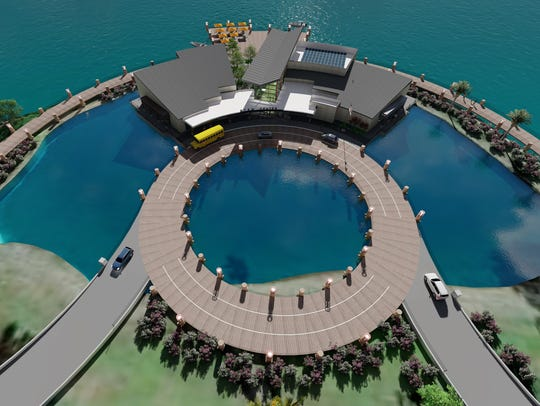 This artist's rendering shows an arial view of a proposed