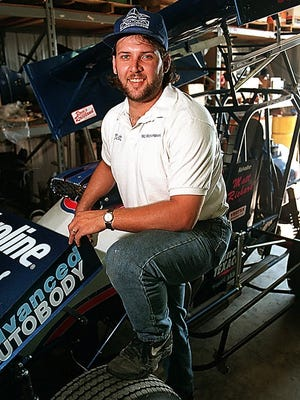 Matt Richard poses with his sprint car in 1999. Martin will be inducted into the Huset's Speedway Hall of Fame on Sunday, July 19.