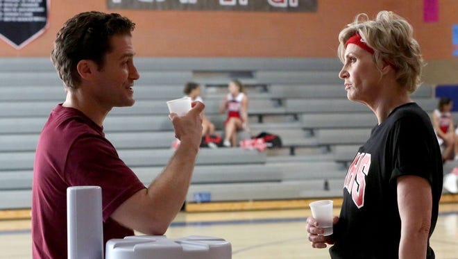 Will (Matthew Morrison) and Sue (Jane Lynch) chat in the 'Glee' Series Finale episode.
