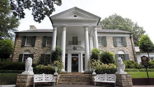This August 2010 file photo shows Graceland, Elvis Presley's home in Memphis.