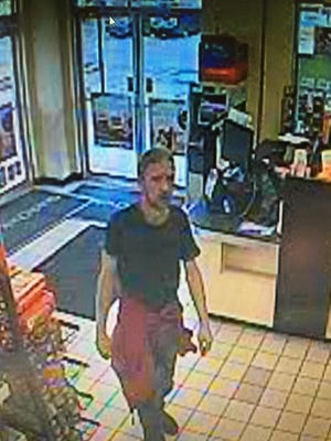 South Brunswick police are looking to identify this man in connection with a theft at a convenience store.