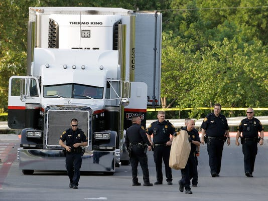 AP TRACTOR TRAILER TRAFFICKING DEATHS A USA TX