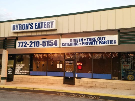 Byron's Eatery is at 6075 U.S. 1 in Stuart