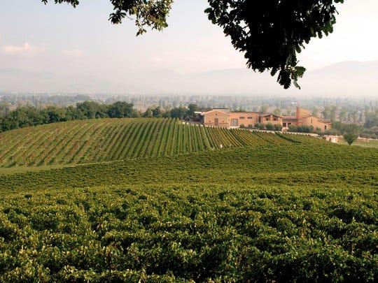 Arnaldo Caprai's winemaking facilities and vineyards in Montefalco, in the Italian region of Umbria