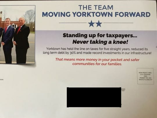 Yorktown Democrats are calling a town GOP mailer 'divisive'