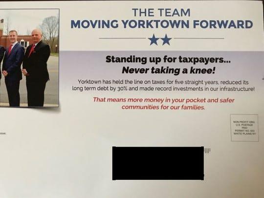 Yorktown Democrats are calling a town GOP mailer 'divisive'