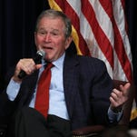 Mitch Albom: George W. Bush gives lesson in laughing at ourselves
