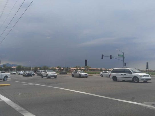 Rain began to fall in the Southwest Valley at about
