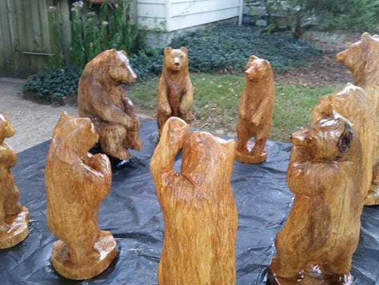 A chainsaw sculptor will be featured at Art in the