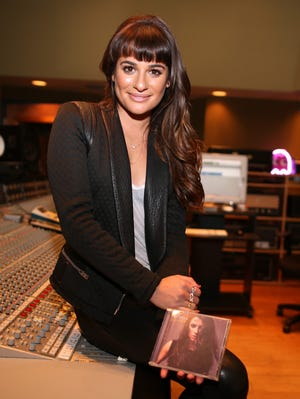 Lea Michele attends her 'Louder' album playback and Q&A in Los Angeles on Feb. 26.